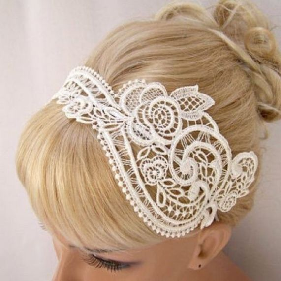 70+ Best Wedding lace headpiece Ideas 55
