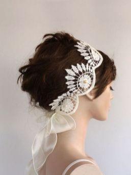 70+ Best Wedding lace headpiece Ideas 61