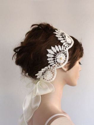 70+ Best Wedding lace headpiece Ideas 61