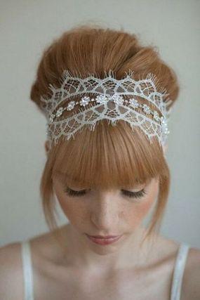 70+ Best Wedding lace headpiece Ideas 65