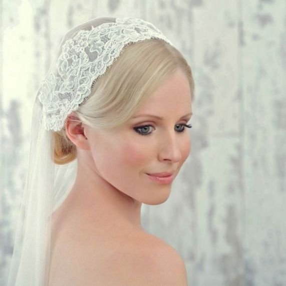 70+ Best Wedding lace headpiece Ideas 77