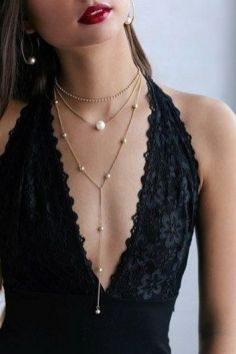 Great Pearl Necklace Outfit Ideas 70+ 17