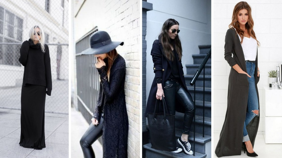 17 Extra Long black cardigan Women ideas