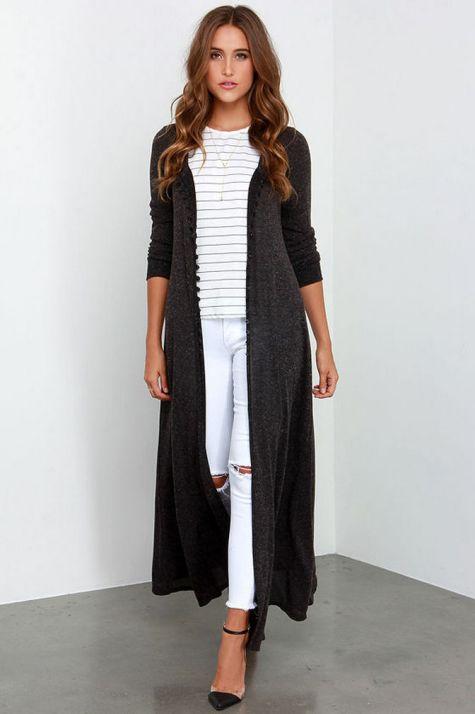 17 extra long black cardigan ideas 13