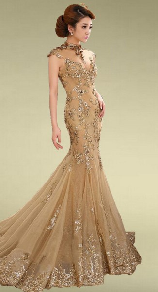 20 Gold Prom Dresses Flower ideas 10