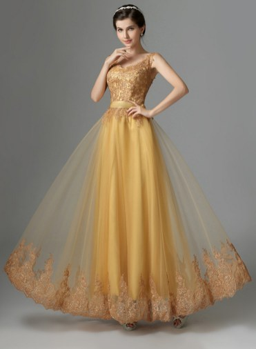20 Gold Prom Dresses Flower ideas 5