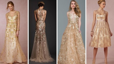 20 Gold Prom Dresses Flower ideas