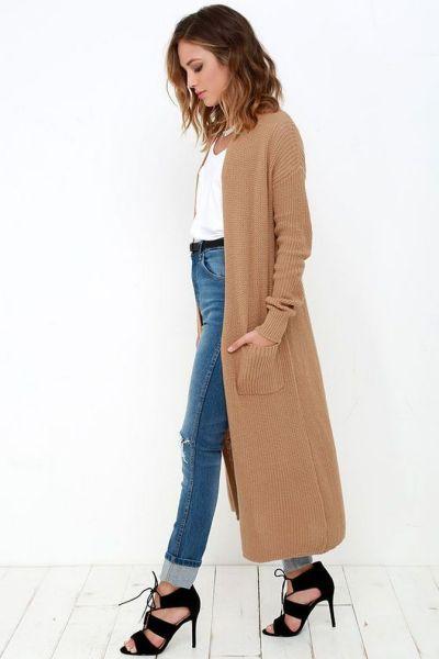 20 Long Sweater Cardigan Pocket Ideas 15