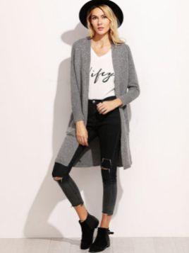 20 Long Sweater Cardigan Pocket Ideas 16