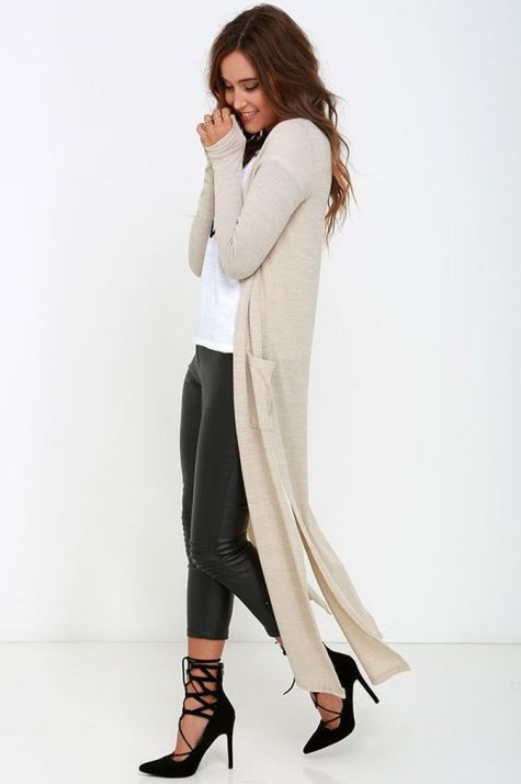 20 Long Sweater Cardigan Pocket Ideas 22
