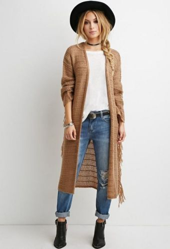 20 Long Sweater Cardigan Pocket Ideas 23