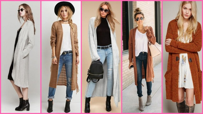 20 Long Sweater Cardigan Pocket Ideas