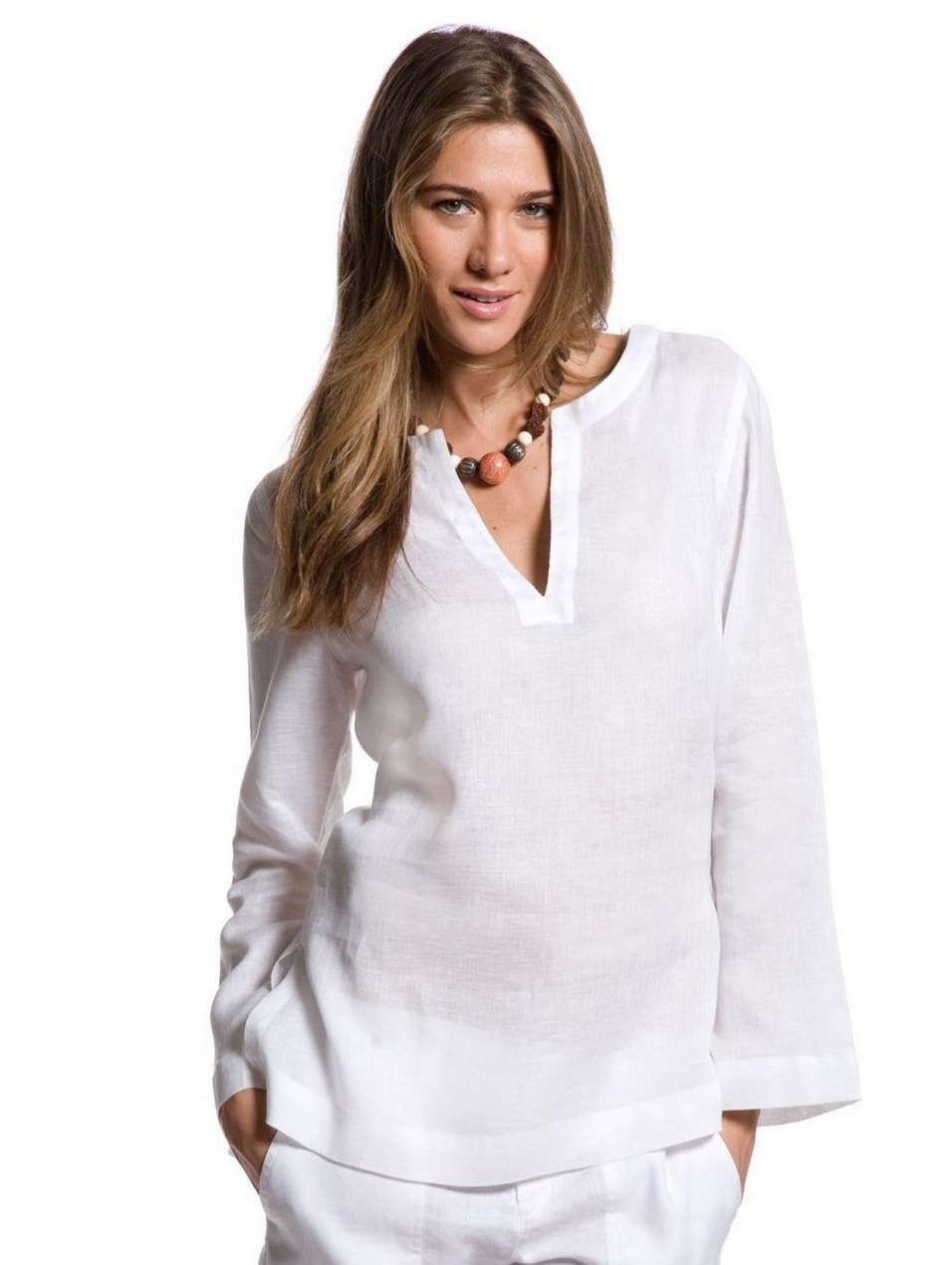 20 White Tunic Shirts for Women 16