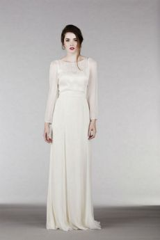 27 Simple White Long Sleeve Wedding Dresses ideas 10