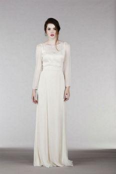27 Simple White Long Sleeve Wedding Dresses ideas 10