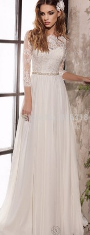 27 Simple White Long Sleeve Wedding Dresses ideas 24