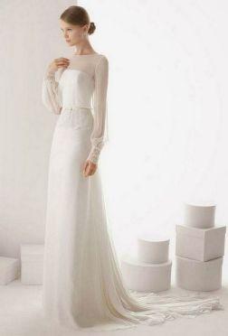 27 Simple White Long Sleeve Wedding Dresses ideas 3