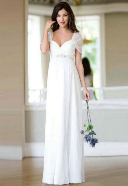 27 Simple White Long Sleeve Wedding Dresses ideas 6