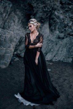 30 Black Long Sleeve Wedding Dresses ideas 10 1