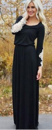 30 Black Long Sleeve Wedding Dresses ideas 12 1