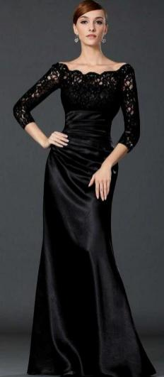 30 Black Long Sleeve Wedding Dresses ideas 22 1