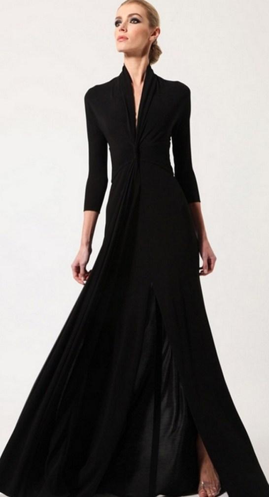 30 Black Long Sleeve Wedding Dresses ideas 24