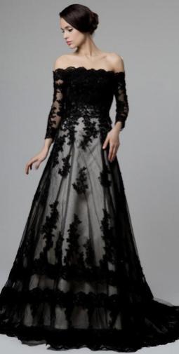 30 Black Long Sleeve Wedding Dresses ideas 26 1