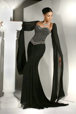 30 Black Long Sleeve Wedding Dresses ideas 7