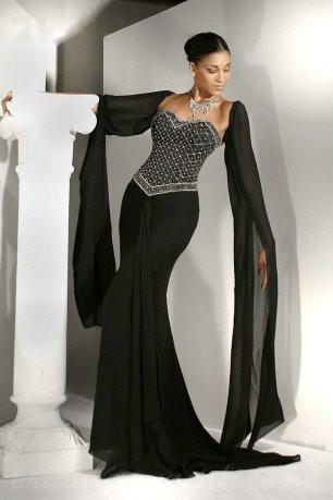 30 Black Long Sleeve Wedding Dresses ideas 7