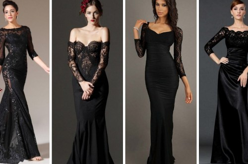 30 Black Long Sleeve Wedding Dresses ideas