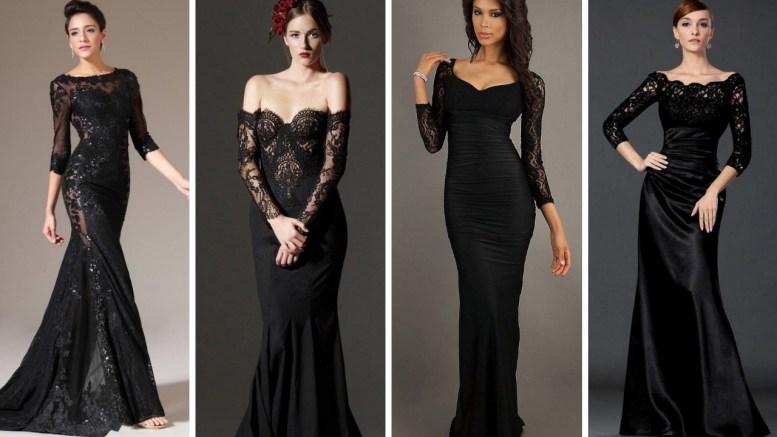 30 Black Long Sleeve Wedding Dresses ideas
