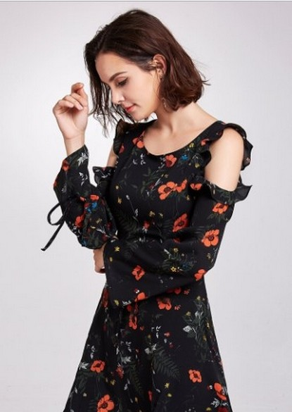 30 Women Print Dresses with sleeves Ideas 15