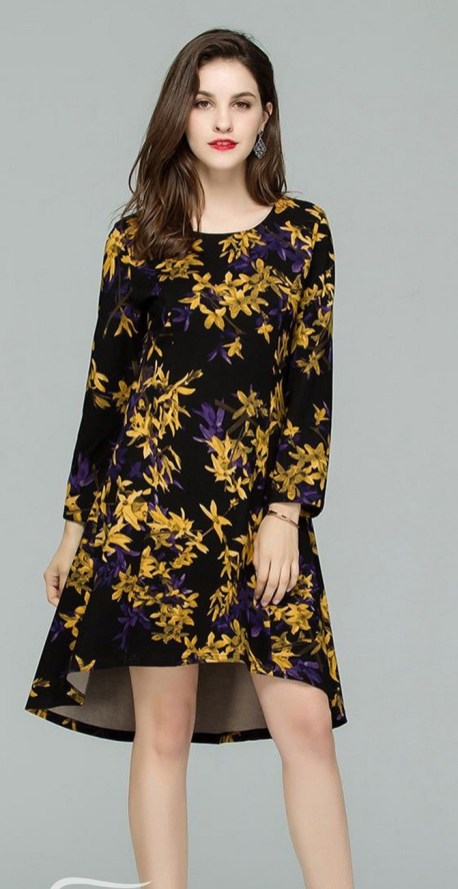 30 Women Print Dresses with sleeves Ideas 27