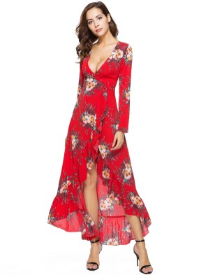 30 Women Print Dresses with sleeves Ideas 8
