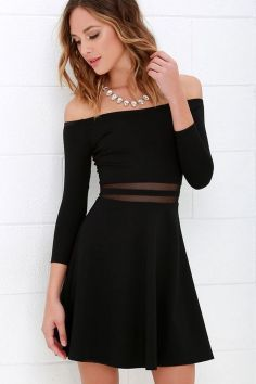 30 ideas skater dress black to Follow 9