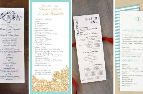 35 Simple Wedding Reception Program Sample Ideas