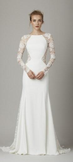 40 High Low Long Sleeve Modern Wedding Dresses Ideass 1