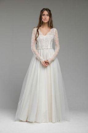 40 High Low Long Sleeve Modern Wedding Dresses Ideass 13