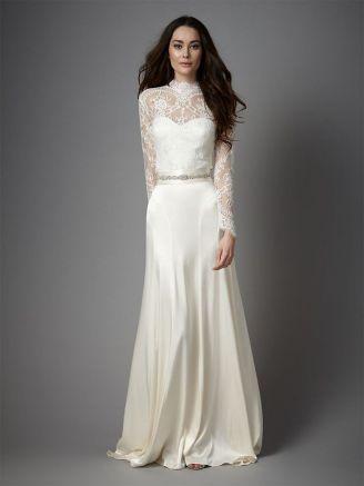 40 High Low Long Sleeve Modern Wedding Dresses Ideass 24