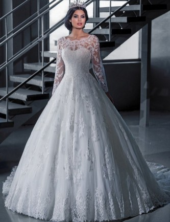 40 High Low Long Sleeve Modern Wedding Dresses Ideass 28