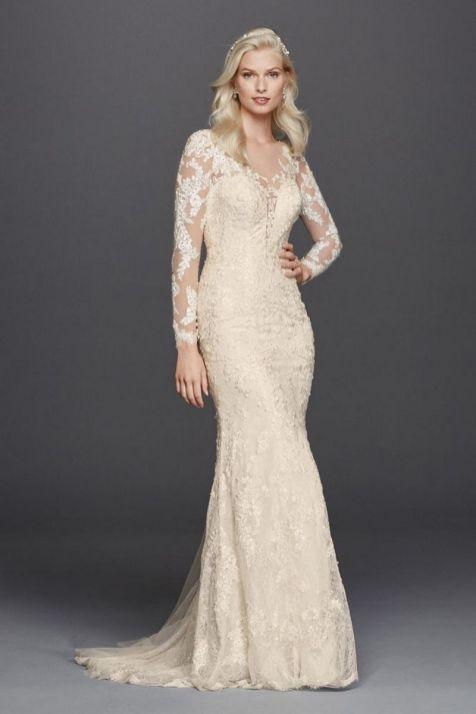 40 High Low Long Sleeve Modern Wedding Dresses Ideass 37