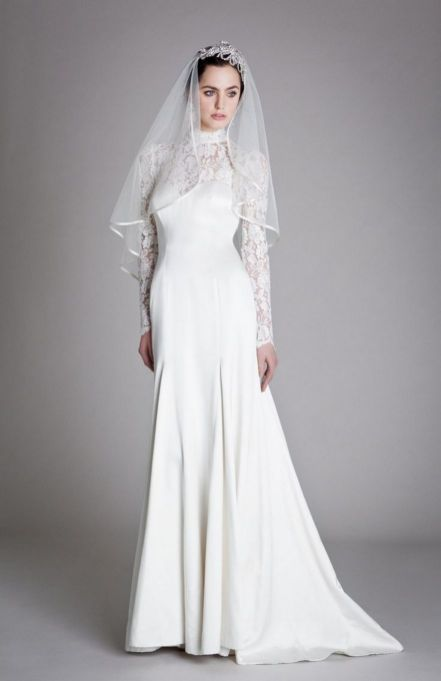 40 High Low Long Sleeve Modern Wedding Dresses Ideass 39