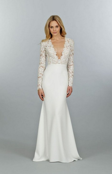 40 High Low Long Sleeve Modern Wedding Dresses Ideass 4