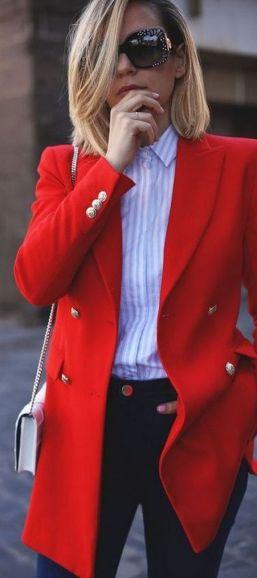 40 Womens red blazer jackets ideas 10