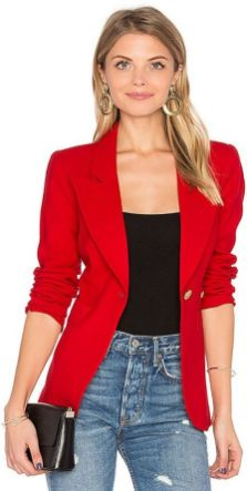 40 Womens red blazer jackets ideas 11