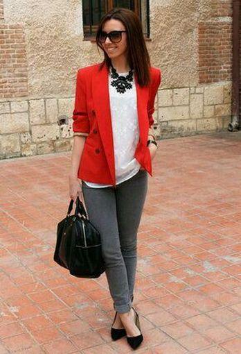40 Womens red blazer jackets ideas 18