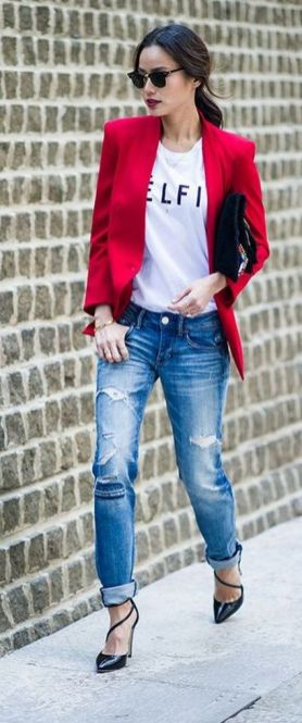 40 Womens red blazer jackets ideas 23