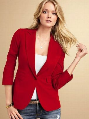 40 Womens red blazer jackets ideas 25