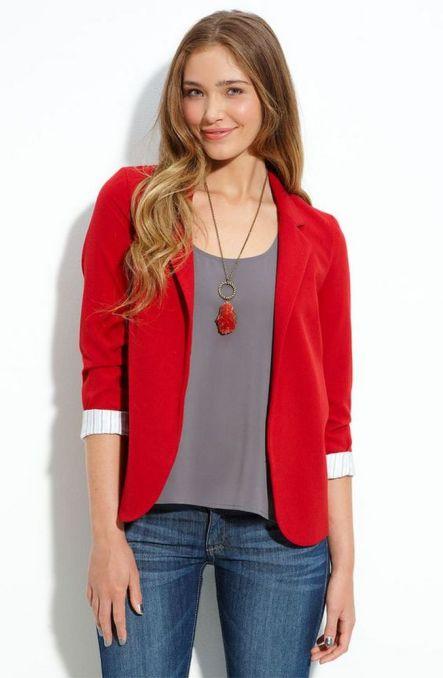 40 Womens red blazer jackets ideas 30
