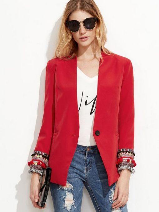 40 Womens red blazer jackets ideas 31